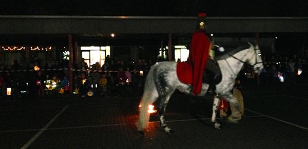 Saint Martin sur son cheval blanc